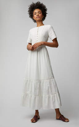 Jonathan Simkhai Eyelet Cotton Maxi Dress