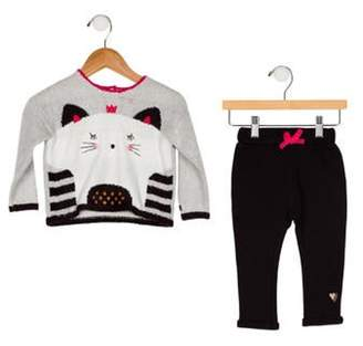 Catimini Girls' Two-Piece Set w/ Tags multicolor Girls' Two-Piece Set w/ Tags