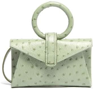 Valery Complét 'Valery' micro ostrich embossed leather envelope belt bag