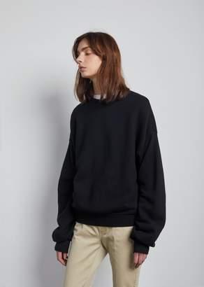 R 13 Pleated Sleeve Sweatshirt Black