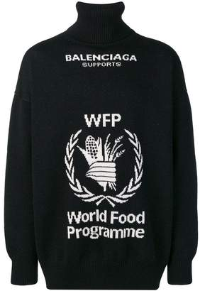 Balenciaga World Food Programme turtleneck sweater
