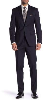 Tallia Tonal Stripe Wool Notch Collar Suit