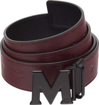 "MCM M Reversible Belt 1.75"" In Monogram Leather"