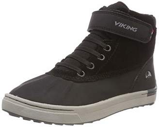 Viking Unisex Kids' MOLDE MID Hi-Top Trainers, (Black/Grey 203)