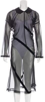 Comme des Garçons Sheer Midi Dress Black Comme des Garçons Sheer Midi Dress