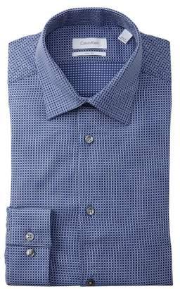 Calvin Klein Pattern Slim Fit Dress Shirt
