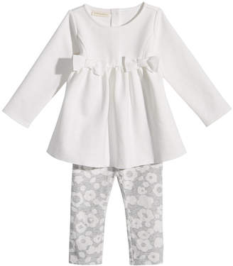 First Impressions 2-Pc. Bows Tunic & Dot-Print Leggings Set, Baby Girls, Created for Macy's
