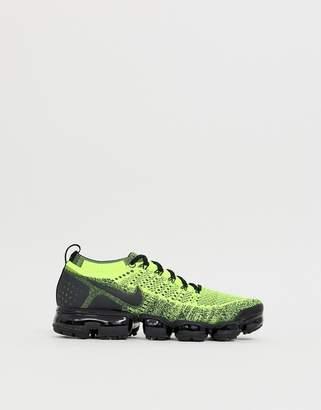 Nike Running VaporMax Flyknit 2 racer og sneakers in yellow