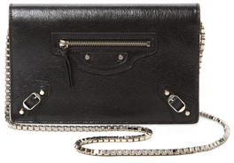 Balenciaga  Classic Leather Wallet On A Chain