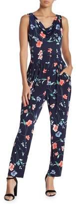 Gilli Cowl Neck Floral Jumpsuit