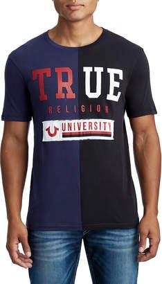True Religion MENS COLORBLOCK TR UNIVERSITY GRAPHIC TEE