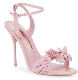 Sophia Webster Lilico Metallic Leather Ankle-Strap Sandals