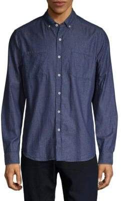 Report Collection Printed Button-Down Shirt