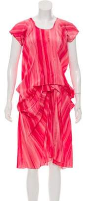 Marni Tie-Dye Ruched Dress Coral Tie-Dye Ruched Dress