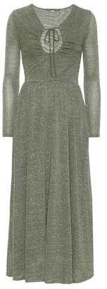 ALEXACHUNG Metallic knit maxi dress