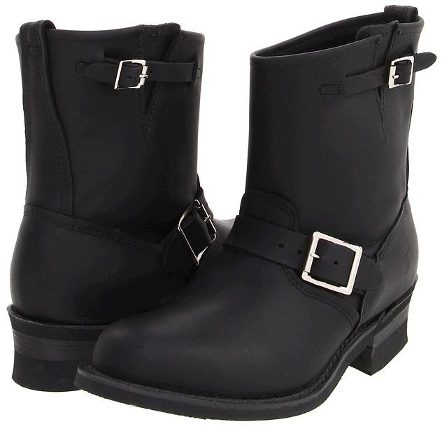 Frye - Engineer 8R W (Black) - Footwear