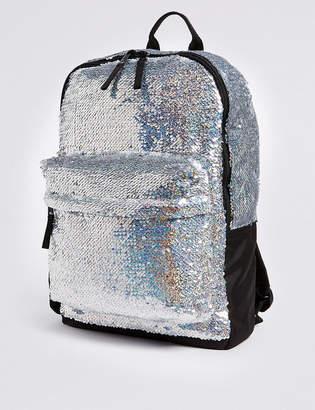 Marks and Spencer Kids' Sparkle Sequin Rucksack