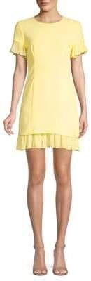 Elizabeth and James Rosaria Ruffle Hem Mini Dress