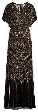 Aidan Mattox Women's Embellished V-Neck Gown - Size 0