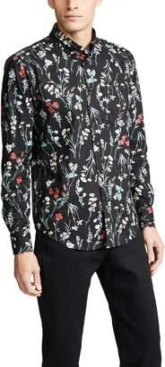 Naked & Famous Denim Flower Painting Regular Shirt