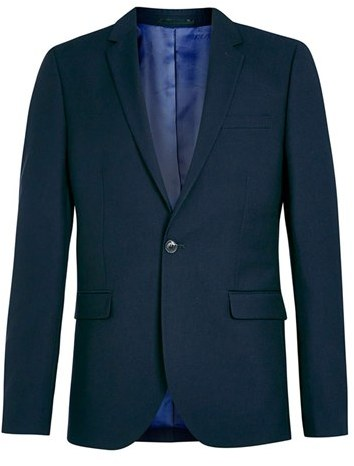 Men's Topman Navy Skinny Fit Suit Jacket 4