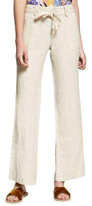 Sanctuary Shore Line Wide Leg Linen Pants