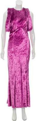 ATTICO Velvet Maxi Dress Violet Velvet Maxi Dress