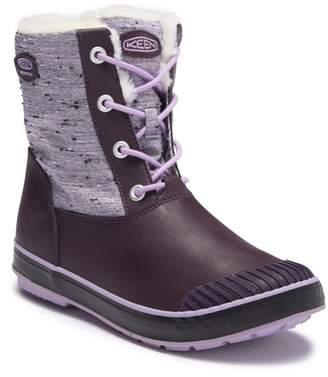 Keen Elsa Waterproof Faux Fur Lined Snow Boot (Big Kid)