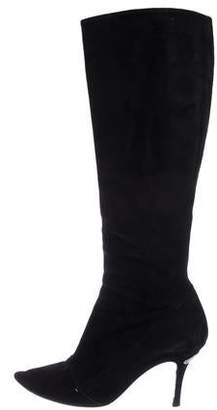 Louis Vuitton Suede Knee-High-Boots