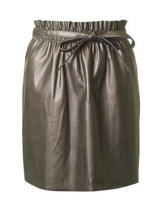 Saint Tropez Faux Metallic Mini Skirt
