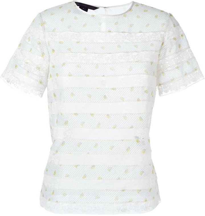 Marc By Marc Jacobs lace insert T-shirt blouse