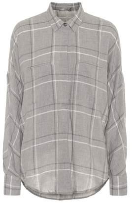 Vince Bar plaid cotton-blend shirt