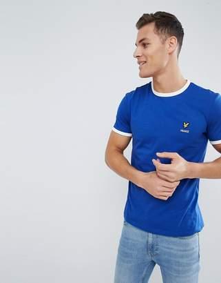 Lyle & Scott France Country Logo Ringer T-Shirt In Navy