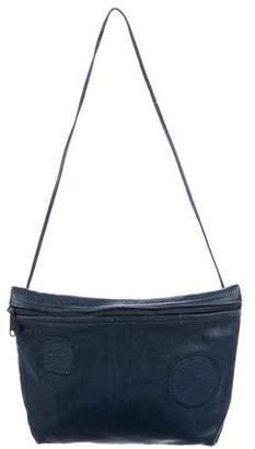 Carlos Falchi Grained Leather Shoulder Bag