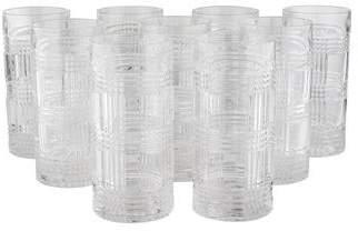 Ralph Lauren Set of 12 Glen Plaid Highball Glasses