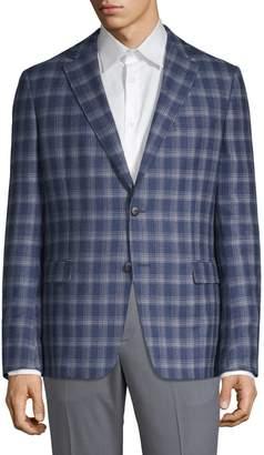 Ermenegildo Zegna Plaid Wool Cotton Jacket