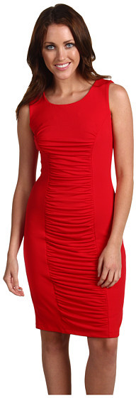 Calvin Klein - Sleeveless Drape Front Dress