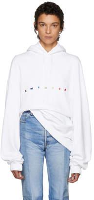 Vetements White Oversized Sweater Hoodie