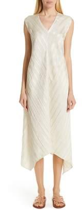 Zero Maria Cornejo Foulard Plisse Linen & Silk Dress