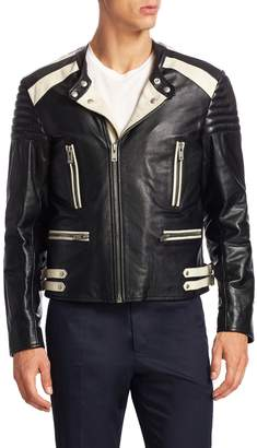 Maison Margiela Men's Leather Biker Jacket