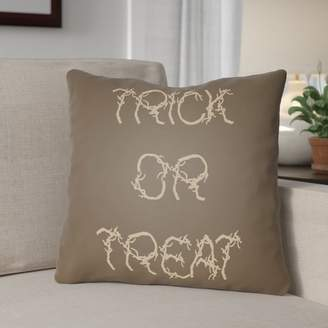 The Holiday Aisle Boo Indoor/outdoor Throw Pillow