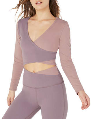 Beyond Yoga Graceland Colorblock Cropped Wrap Top