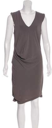 Helmut Lang V-Neck Midi Dress