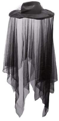 Ann Demeulemeester Veiled Straw Hat - Womens - Black