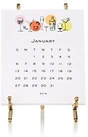 Connor 2019 Cocktail Parade Easel Calendar - Gold