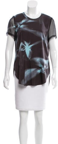 3.1 Phillip Lim 3.1 Phillip Lim Abstract Print Short Sleeve Top