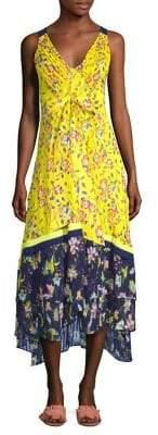 Tanya Taylor Everly Garden Print Midi Dress