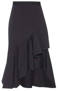 Peter Pilotto Ruffled cotton skirt