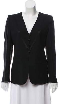 Sonia Rykiel Collarless Long Sleeve Blazer