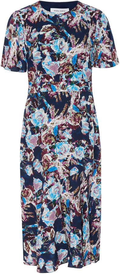 Prabal Gurung Floral-Print Silk Midi Dress